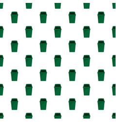 green park garbage can pattern seamless vector image