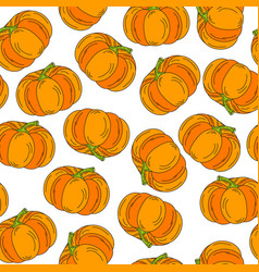 halloween pattern pumpkin icon background vector image