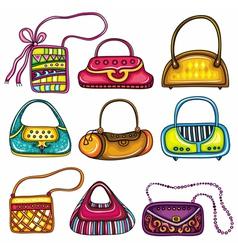 Handbag purses vector