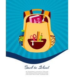Happy back to school poster or web banner vector