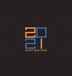 happy new year poster 2021 logo concept vector image