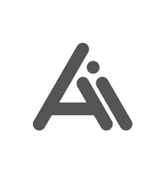 initial lowercase letter ai logo gradient vector image
