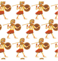 maya traditional attributes and ancient priceless vector image