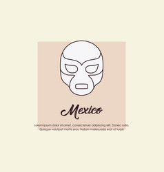 Mexico design concept vector