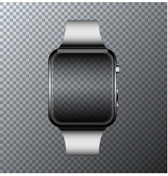 modern smartwatch icon on transparent vector image