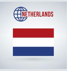 netherlands flag isolated on modern background vector image