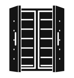 Open fridge icon simple style vector