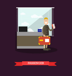 passenger at the airport in vector image