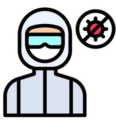 Personal protective equipment filled style icon vector