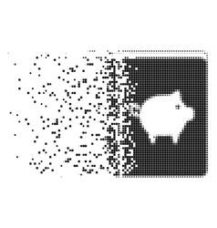Pig handbook erosion pixel icon vector