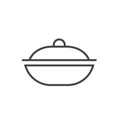 pot line icon sign on vector image