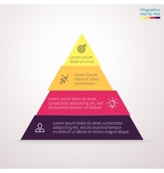 Pyramid for infographics chart diagram vector image