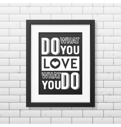 Quote typographical Background in realistic square vector image