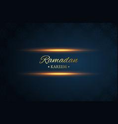 Ramadan kareem black and dark blue background vector