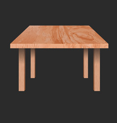 Rectangular shaped table vector