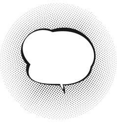 retro speech bubble vector image vector image
