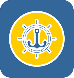 sea sticker icon vector image