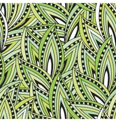Seamless pattern with green leaves and blots vector image