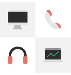 Set of simple devices icons elements screen vector