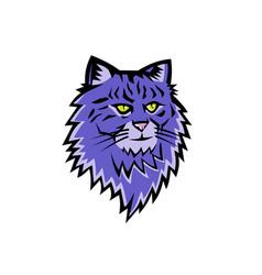 Siberian forest cat mascot vector