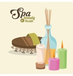 Spa beauty and health massages treatment incense vector