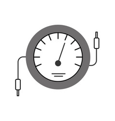 speedometer icon counter electric cable test vector image