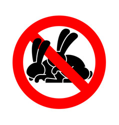 stop rabbit sex ban bunny hare intercourse red vector image