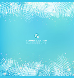 Summer blue blurred background with header vector