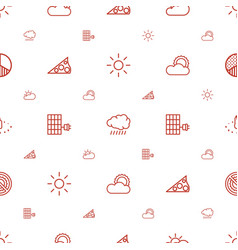 sunlight icons pattern seamless white background vector image