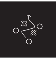 Tactical plan sketch icon vector image