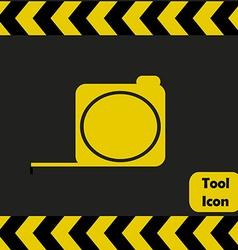 Tape measure icon vector image