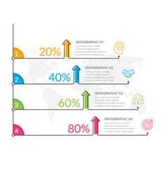 Thin line infographics vector