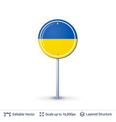 ukraine flag isolated on white vector image