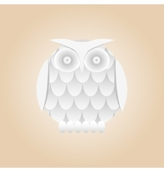 White gradient owl isolated vector