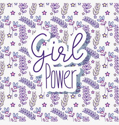 Woman power pattern background vector