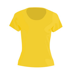 Woman tshirt icon on a white background vector