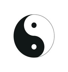 Ying yang symbol of harmony and balance simple vector