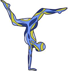 Yoga silhouettes asana scorpion vector