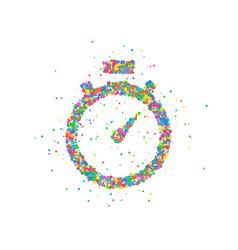abstract stopwatch splash vector image vector image