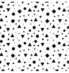 black and white vintage geometric shapes vector image