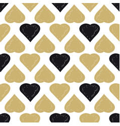 decorative seamless heart pattern vector image vector image