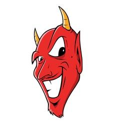 devil grinning vector image
