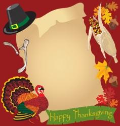thanksgiving day menu vector image vector image