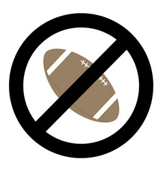 banning ball for rugby vector image vector image