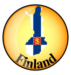 button Finland vector image vector image