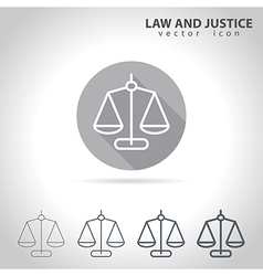 Law and justice outline icon vector image vector image