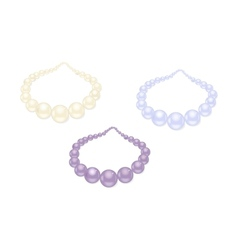pearl necklace set vector image