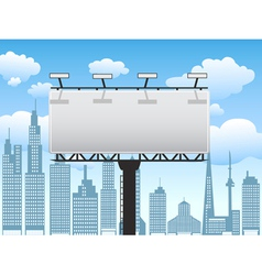 billboard in city vector image