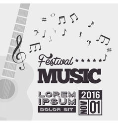 festival music background guitar notes vector image