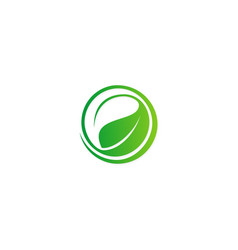 green leaf abstract ecology logo vector image vector image